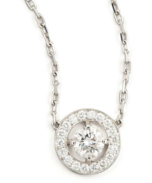 Boucheronboucheron ava 18k white gold round boucheron ava 18k white gold round diamond pendant necklace 073 tcw mozeypictures Images