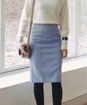 DHOLIC | A/Wラインポイントタイトミディスカート(スカート)