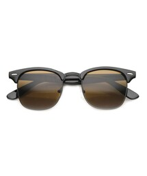 zeroUV「Indie Half Frame Horned Rim Vintage Inspired Sunglasses 2934(Others)」
