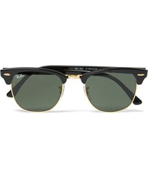 Ray-Ban「Ray-Ban Clubmaster Square-Frame Acetate Sunglasses(Sunglasses)」