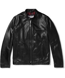 Schott「Schott Café Racer Leather Jacket(Riders jacket)」