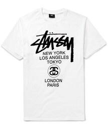 Stussy「Stüssy World Tour Printed Cotton-Jersey T-Shirt(T Shirts)」