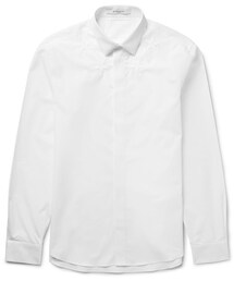 Givenchy「Givenchy Slim-Fit Star-Embroidered Cotton-Poplin Shirt(Shirts)」
