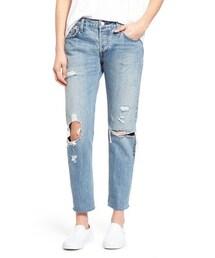 Levi's「Levi's ® '501 CT' Distressed Boyfriend Jeans (Time Gone By)(Denim pants)」