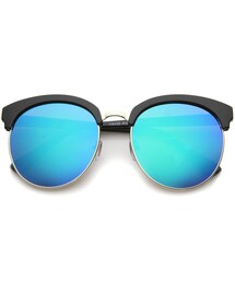 zeroUV「Oversize Round Horned Rim Half Frame Revo Lens Sunglasses A190(Others)」