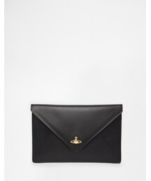 Vivienne Westwood「Vivienne Westwood Clutch Bag in Black with Gold Orb(Clutch)」