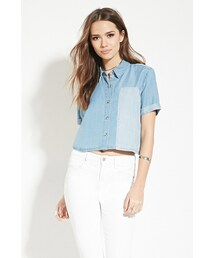 Forever 21「FOREVER 21 Contemporary Chambray Shirt(Shirts)」