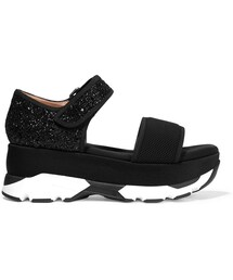 Marni「Marni Mesh and Glittered Twill Platform Sandals(Other Shoes)」