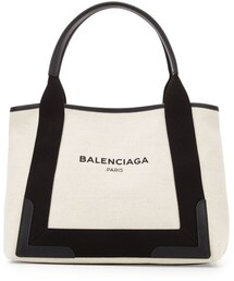 Balenciaga「Balenciaga Navy Cabas Small Logo Tote Bag, Black/Natural(Tote)」