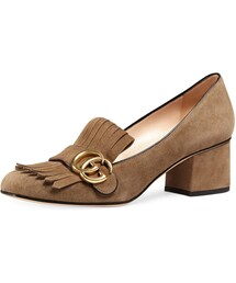 Gucci「Gucci Marmont Fringe Suede 55mm Loafer, Taupe(Pumps)」