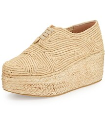 Robert Clergerie「Robert Clergerie Pinto Flatform Lace-Up Shoe, Natural(Other Shoes)」