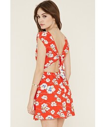 Forever 21「FOREVER 21 abstract floral print dress(One piece dress)」