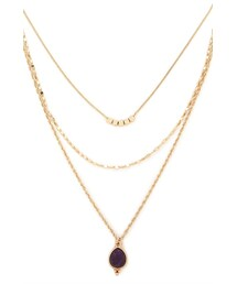 Forever 21「FOREVER 21 faux stone layered necklace(Necklace)」