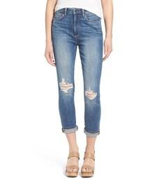 Paige Denim「Paige Denim 'Carter' High Rise Slim Boyfriend Jeans (Amanda Destructed)(Denim pants)」