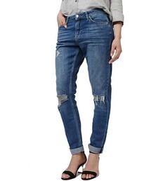 Topshop「Topshop 'Lucas' Ripped Boyfriend Jeans(Denim pants)」