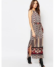 Sisley「Sisley Printed Maxi Dress with Belt(One piece dress)」