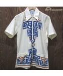 VINTAGE「70's vintage The BAGSHAWS ジップアップ シャツ 半袖 M キューバシャツ TALON(Shirts)」