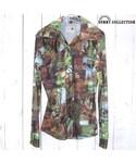 VINTAGE「70's vintage DICKSON-JENKINS フォトプリント 総柄 ポリシャツ レディース(Shirts)」