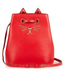 Charlotte Olympia「CHARLOTTE OLYMPIA Feline leather bucket bag(Handbag)」