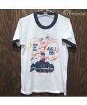VINTAGE「80's USA vintage Sportswear 染みこみプリント リンガー Tシャツ 白 S(T Shirts)」
