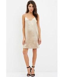 Forever 21「FOREVER 21 Contemporary Metallic Cami Shift Dress(One piece dress)」