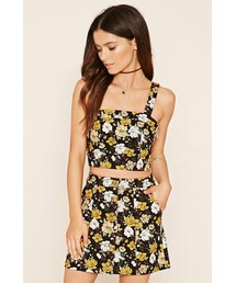 Forever 21「FOREVER 21 Buttoned Floral Mini Skirt(Skirt)」