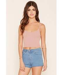 Forever 21「FOREVER 21 Cable Knit Crop Top(Tank tops)」