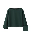 ユニクロ | WOMEN エクストラファインコットンTブラウス(8分袖)(シャツ・ブラウス)