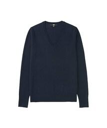 ユニクロ(ユニクロ)の「WOMEN エクストラファインメリノVネックセーター(長袖)(ニット・セーター)」