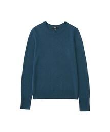 ユニクロ(ユニクロ)の「WOMEN エクストラファインメリノクルーネックセーター(長袖)+(ニット・セーター)」