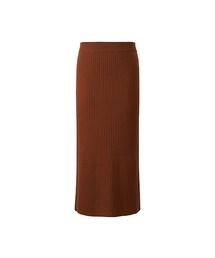 ユニクロ(ユニクロ)の「WOMEN メリノブレンドリブスカート(スカート)」