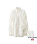 ユニクロ   WOMEN リネンベーシックシャツ(長袖)+E(シャツ・ブラウス)
