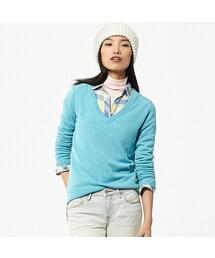 ユニクロ(ユニクロ)の「WOMEN カシミヤVネックセーター(長袖)(ニット・セーター)」