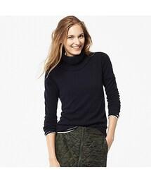 ユニクロ(ユニクロ)の「WOMEN カシミヤタートルネックセーター(長袖)(ニット・セーター)」