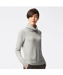 ユニクロ | WOMEN カシミヤタートルネックセーター(長袖)(ニット・セーター)