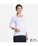 ユニクロ | WOMEN スーピマコットンモダールクルーネックT(7分袖)(Tシャツ・カットソー)
