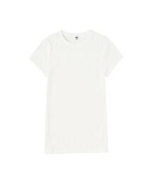 ユニクロ(ユニクロ)の「WOMEN リブクルーネックT(半袖)(Tシャツ・カットソー)」