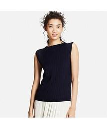 ユニクロ(ユニクロ)の「WOMEN UVカットワイドリブノースリーブセーター(ニット・セーター)」
