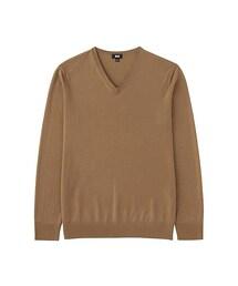 ユニクロ(ユニクロ)の「MEN エクストラファインメリノVネックセーター(長袖)(ニット・セーター)」