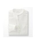 ユニクロ | MEN プレミアムリネンスタンドカラーシャツ(長袖)(シャツ・ブラウス)