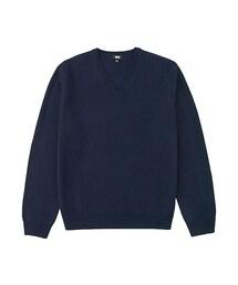 ユニクロ(ユニクロ)の「MEN ラムVネックセーター(長袖)(ニット・セーター)」