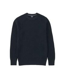 ユニクロ(ユニクロ)の「MEN ヒートテッククルーネックセーター(長袖)(ニット・セーター)」