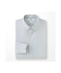 ユニクロ(ユニクロ)の「MEN ファインクロスストレッチスリムフィットブロードシャツ(長袖)(シャツ・ブラウス)」