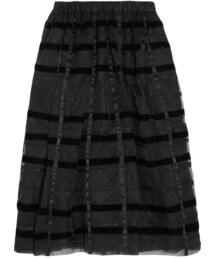 Comme des Garcons「Comme des Garçons Comme des Garçons Striped Velvet and Organza Midi Skirt(Skirt)」