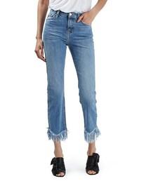 Topshop「Topshop Fringe Hem High Rise Jeans(Denim pants)」