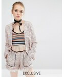 Sister Jane(-)の「Sister Jane Mod Squad Tweed Blazer Jacket Co-Ord(Tシャツ・カットソー)」