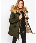 Asos | ASOS Parka with Animal Faux Fur Liner()