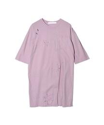 STYLENANDA(スタイルナンダ)の「カットポイントスリットロングTシャツ(その他)」