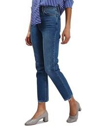 Topshop「Topshop Raw Hem Straight Leg Jeans(Denim pants)」