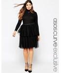 Asos | ASOS Curve ASOS CURVE Mesh Tiered Skirt(Skirt )